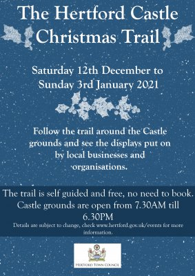 Image for The Hertford Castle Christmas Trail Free activity around Hertford Castle grounds for all the family to enjoy