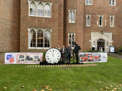 Image for Installation at Hertford Castle to Commemorate Remembrance Sunday