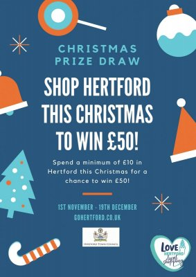 Image for HERTFORD CHRISTMAS PRIZE DRAW - Win £50 to spend in Hertford this Christmas