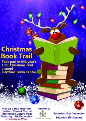 Image for Hertford Christmas Book Trail Free activity around Hertford Town Centre for all the family to enjoy