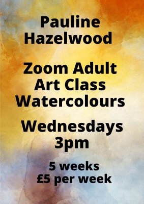 Image for Pauline Hazelwood Adult Art Class - Watercolours
