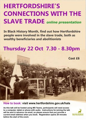 Image for Hertfordshire's Connections to the Slave Trade